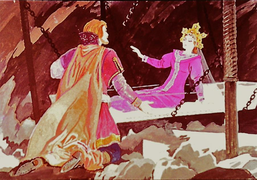 Сказка о спящей царевне и семи богатырях картинки